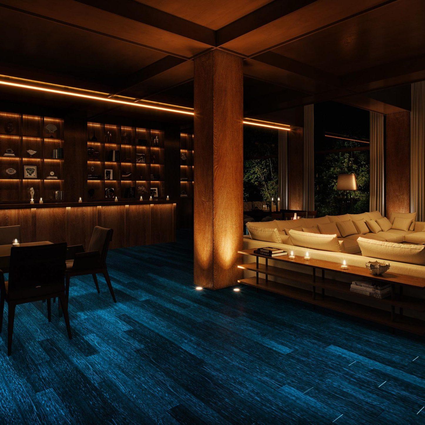 Glowood Timber Bar Night